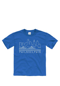 Philadelphia Youth Blue Skyline Glow Short Sleeve T Shirt