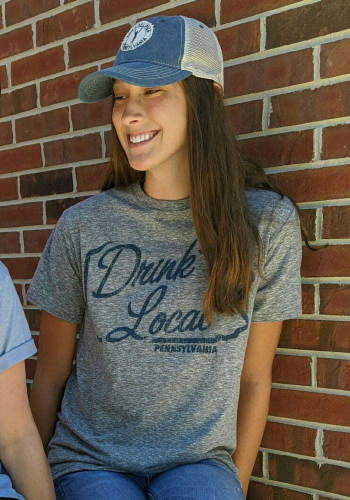 Pennsylvania Grey Drink Local Short Sleeve T Shirt - Image 3