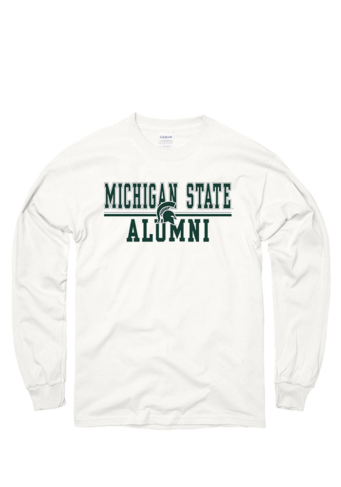 Michigan State Spartans White Flip Long Sleeve T Shirt - Image 1
