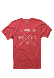 Mens red BBQ Crossing T-Shirt