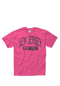 New Jersey Pink Establish Date Arch Short Sleeve T Shirt