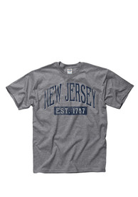 New Jersey Establish Date Arch Short Sleeve T Shirt
