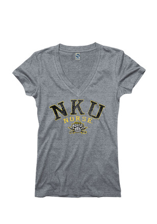 Northern Kentucky Norse Womens Grey Varsity Ageless V-Neck