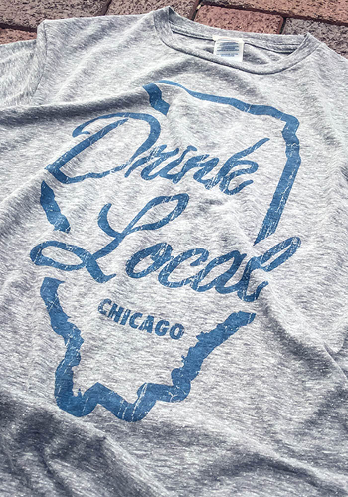Chicago Grey State Drink Local Short Sleeve Fashion T Shirt - Image 2