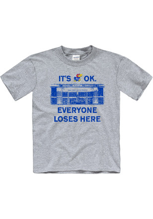 Kansas Jayhawks Kids Grey Home Base T-Shirt