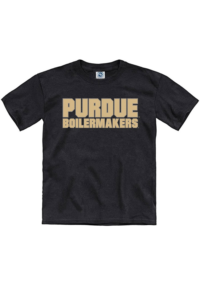 Purdue Boilermakers Youth Black Tryout Rally Short Sleeve T-Shirt - Image 1