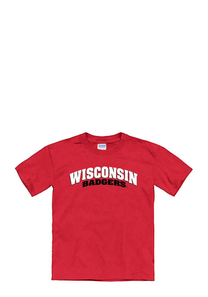 Wisconsin Badgers Youth Red Tryout Rally Short Sleeve T-Shirt - Image 1