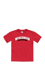 Wisconsin Badgers Kids Red Tryout Rally T-Shirt