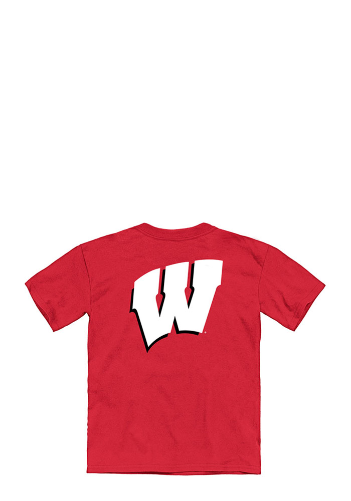 Wisconsin Badgers Youth Red Tryout Rally Short Sleeve T-Shirt - Image 2