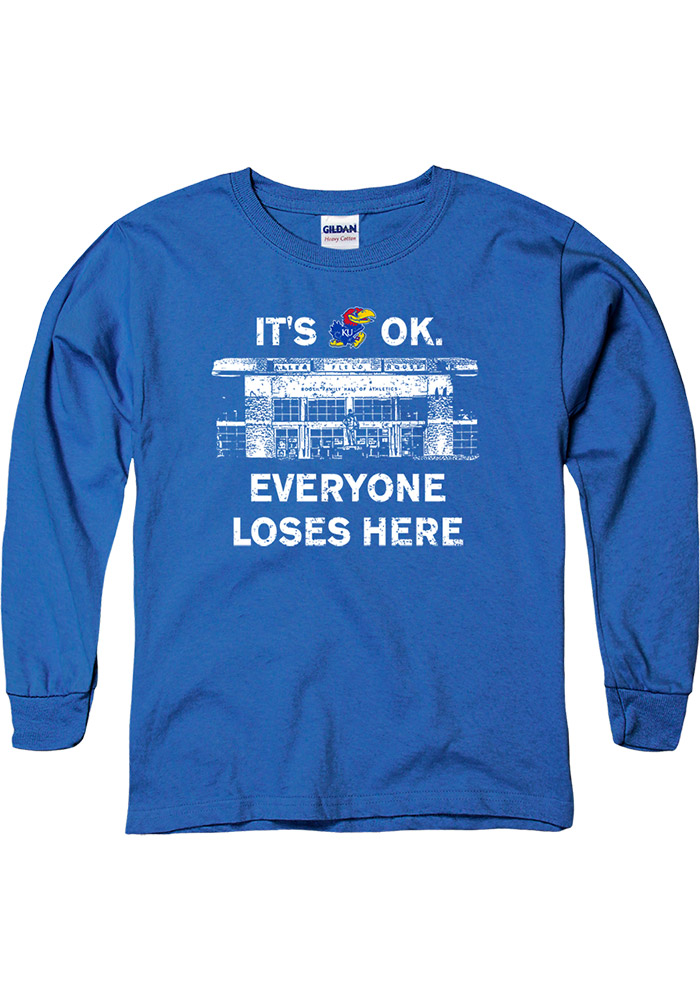 Kansas Jayhawks Youth Blue Home Base T-Shirt