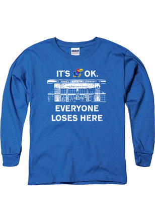 Kansas Jayhawks Kids Blue Home Base T-Shirt