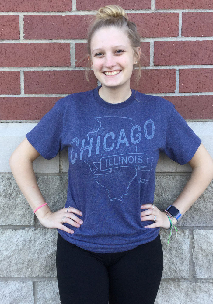 Chicago Navy Blue State Short Sleeve T Shirt - Image 2