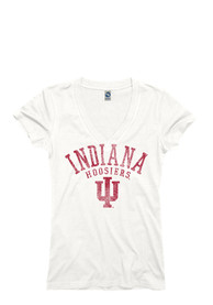 Indiana Hoosiers Juniors White Ageless V-Neck