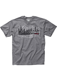 Chicago Grey Skyline Sights Short Sleeve T Shirt