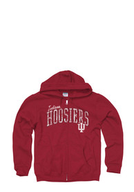Indiana Hoosiers Juniors Cardinal Schoolyard Full Zip Jacket