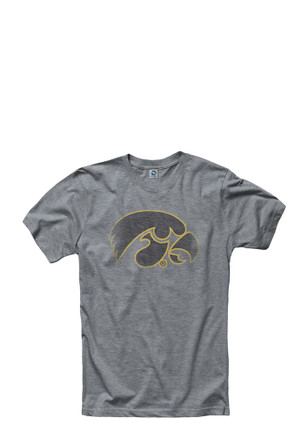Hawkeyes Mens Grey Fade Out Tee