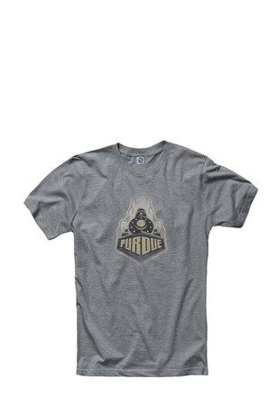 Purdue Boilermakers Mens Grey Fade Out Tee