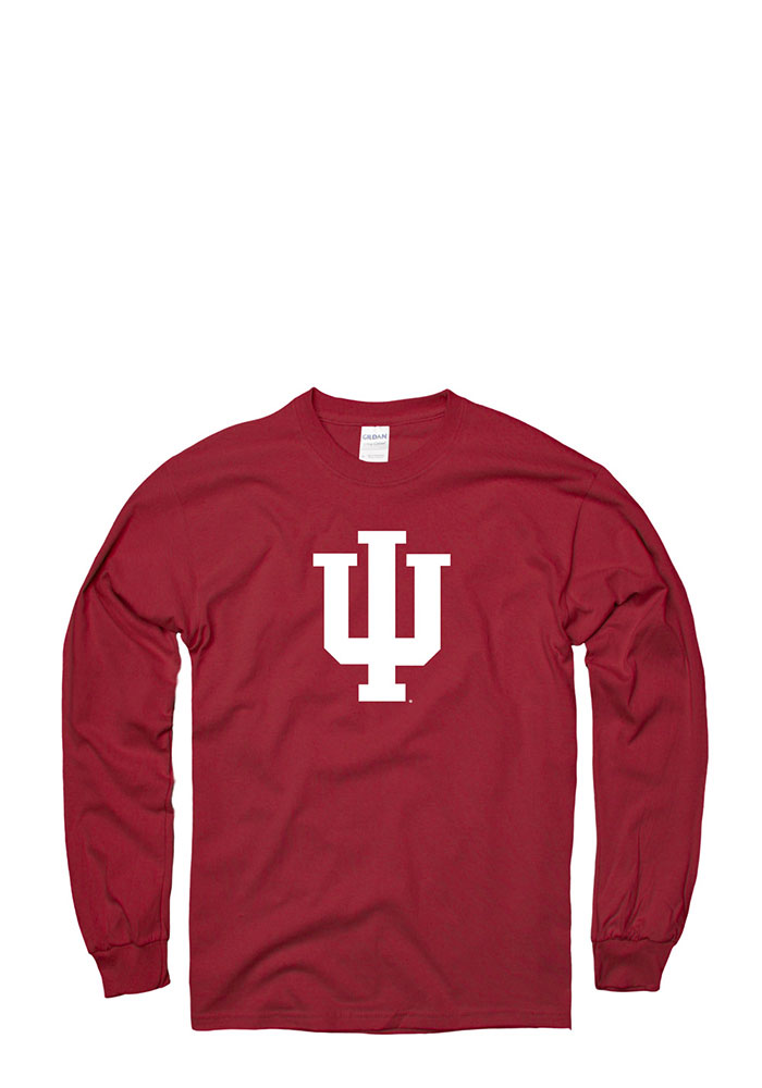 Indiana Hoosiers Mens Red Practice Long Sleeve T Shirt - Image 1