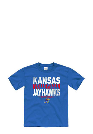 Kansas Jayhawks Kids Blue Tryout T-Shirt