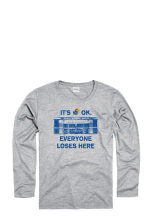 KU Jayhawks Womens Grey Home Base Women's Crew