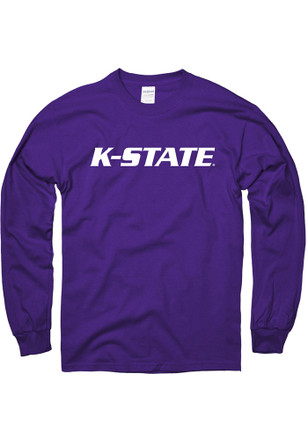 K-State Wildcats Mens Purple Rally Loud Tee