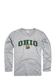 Ohio Bobcats Womens Grey Spirit Women's Crew
