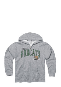 Ohio Bobcats Juniors Grey Schoolyard Full Zip Jacket