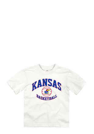 Kansas Jayhawks Toddler White Basketball T-Shirt