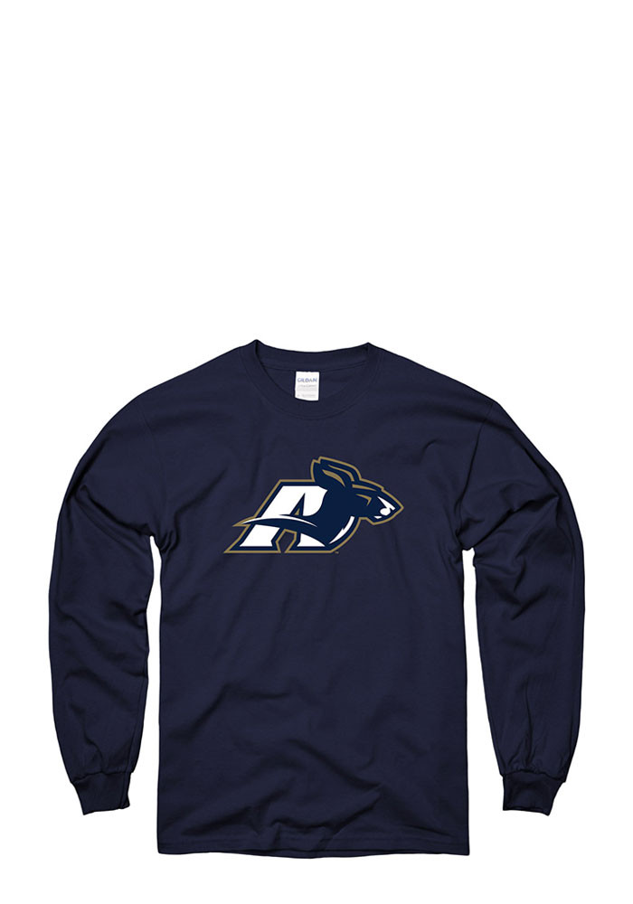 Akron Zips Mens Navy Blue LS Tee Long Sleeve T Shirt - Image 1