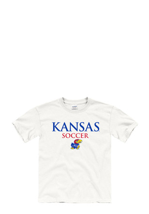 Kansas Jayhawks Kids White Worn Out T-Shirt