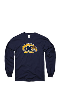 Kent State Golden Flashes Navy Blue LS Tee Tee