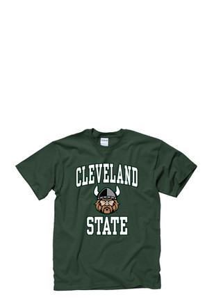 Cleveland State Vikings Mens Green #1 Tee