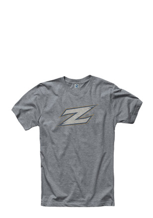 Akron Zips Mens Grey Fade Out Tee
