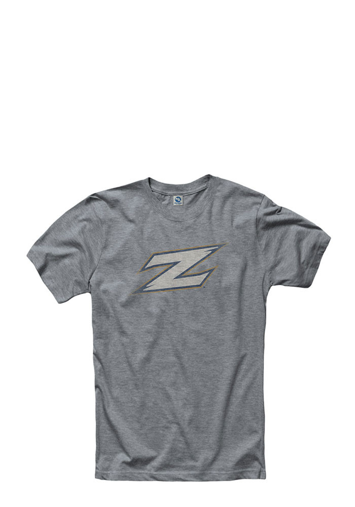 Akron Zips Mens Grey Fade Out Short Sleeve T Shirt - Image 1