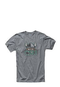 Cleveland State Vikings Grey Fade Out Tee