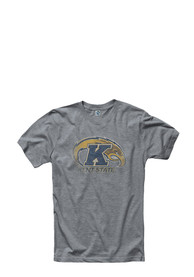 Kent State Golden Flashes Grey Fade Out Tee