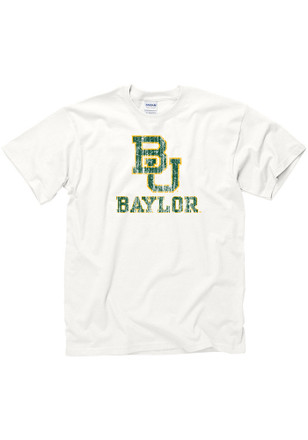 Baylor Mens White Big Logo Tee