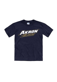 Akron Zips Youth Navy Blue Tryout Rally T-Shirt