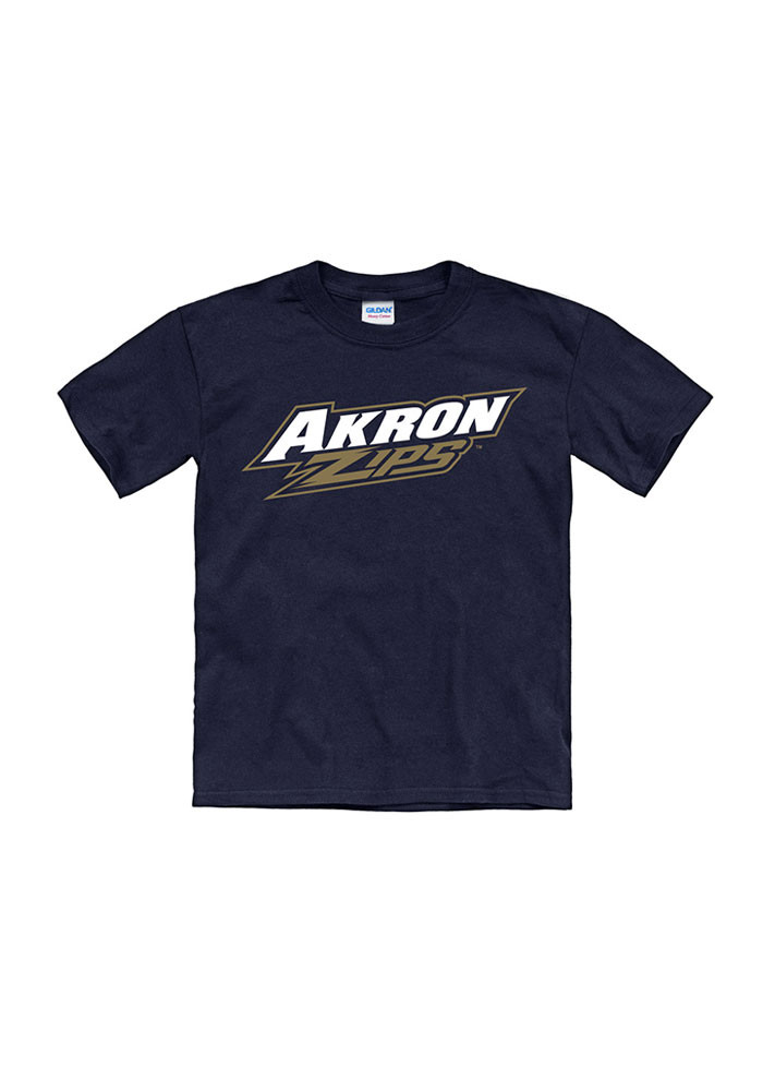 Akron Zips Youth Navy Blue Tryout Rally Short Sleeve T-Shirt - Image 1