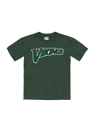 Cleveland State Vikings Kids Green Tryout Rally T-Shirt