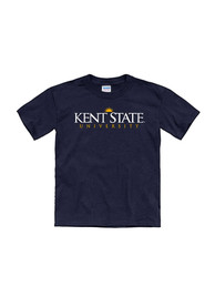 Kent State Golden Flashes Youth Navy Blue Tryout Rally T-Shirt
