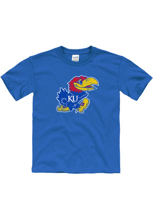 Kansas Jayhawks Kids Blue Big Logo T-Shirt