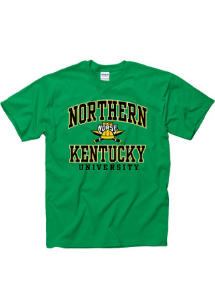Northern Kentucky Norse Mens Green Arch Mascot Tee