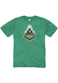 Purdue Boilermakers Green Distressed Big Logo Fashion Tee