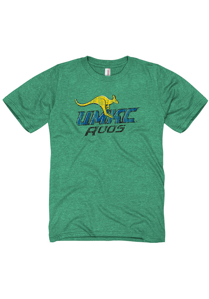 UMKC Roos Green Distressed Big Logo Fashion Tee