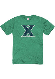 Xavier Musketeers Green Distressed Big Logo Fashion Tee