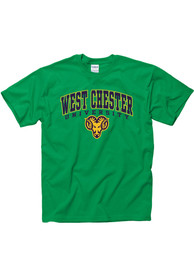 West Chester Golden Rams Green Arch Mascot Tee