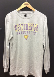 West Chester Golden Rams Grey Worn Out II Fashion Tee