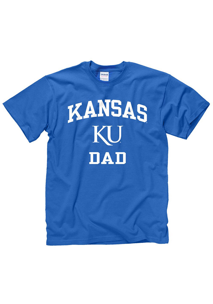 Kansas Jayhawks Blue Dad Short Sleeve T Shirt - Image 1