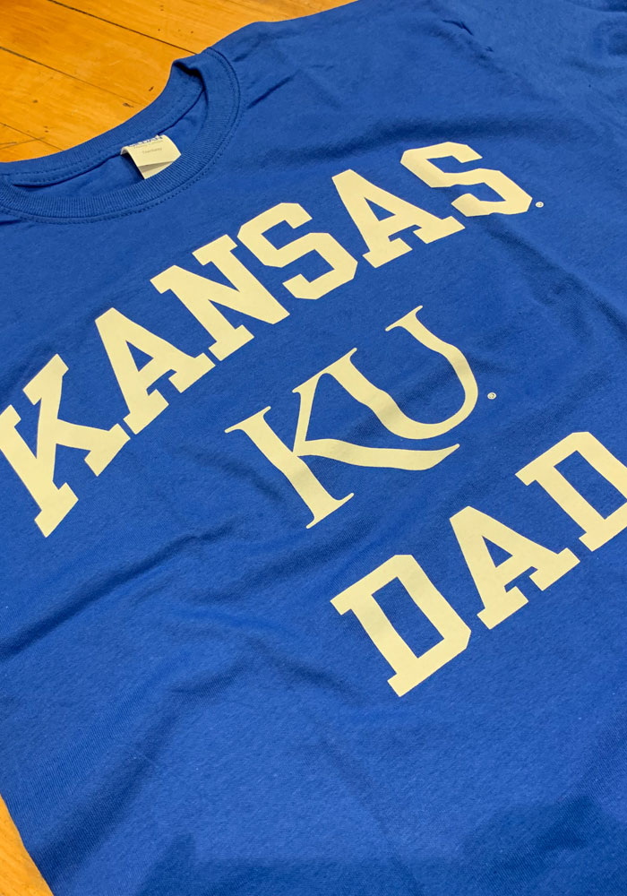 Kansas Jayhawks Blue Dad Short Sleeve T Shirt - Image 2